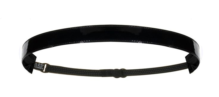 "5/8"" Black Patent Faux Leather Non-Slip Adjustable Headband"