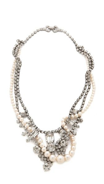 TOM BINNS Grande Dame Crystal Tangled Necklace // would be so cool dressed down with a gray wool pullover