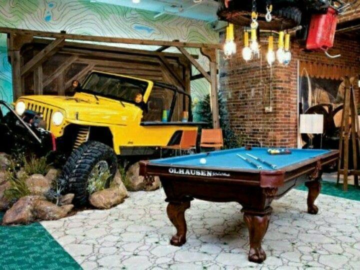 Man Cave Garage Magazine : Great idea the definitive desirable basement decor