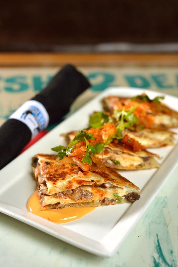 Korean 'Bulgogi' Quesadilla Marinated Steak, Kimchi ...