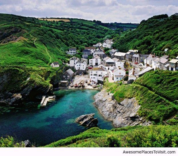 Portloe in Cornwall, UK