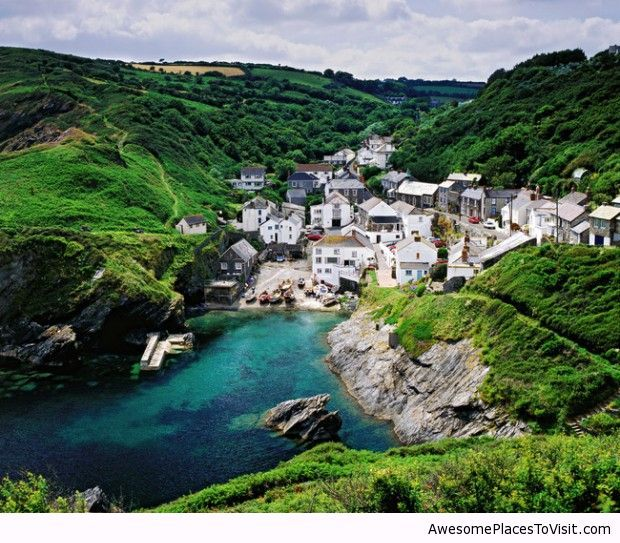 Portloe in Cornwall, UK