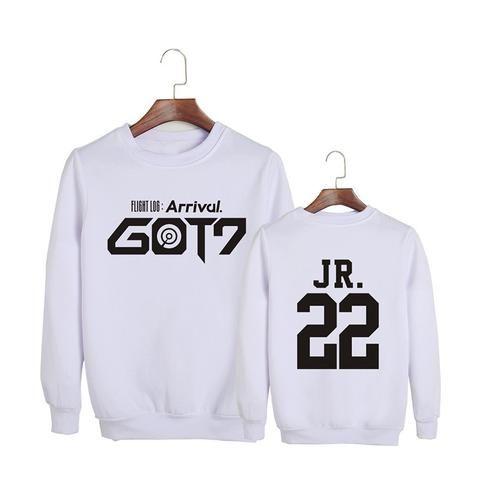 GOT7 Flight Log Arrival Jr Jinyoung 22 Boy Band Cool Fashion Sweatshirt #GOT7 #FlightLog #Arrival #Jr #Jinyoung #BoyBand #Cool #Fashion #Sweatshirt #KIDOLSTUFF #KPOP