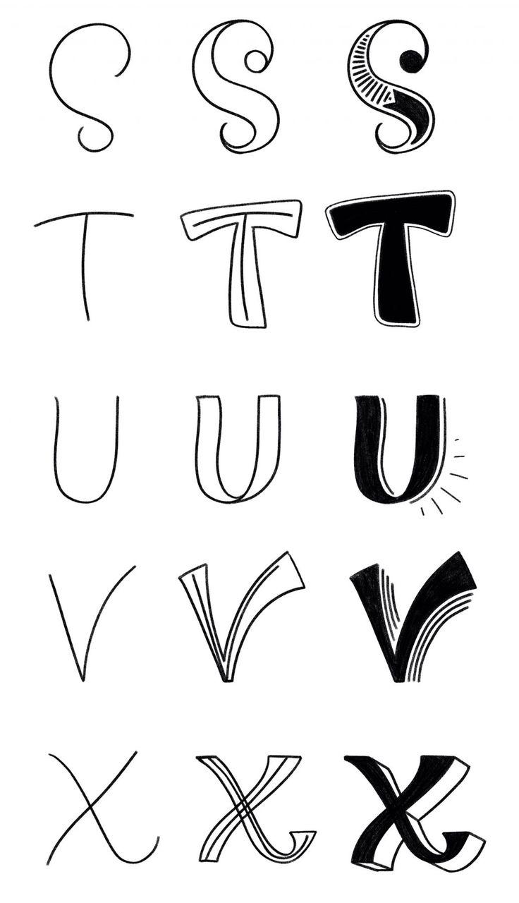 Handlettering Lernen – Teil 3: Das Buchstabenskelett | Bunte Galerie