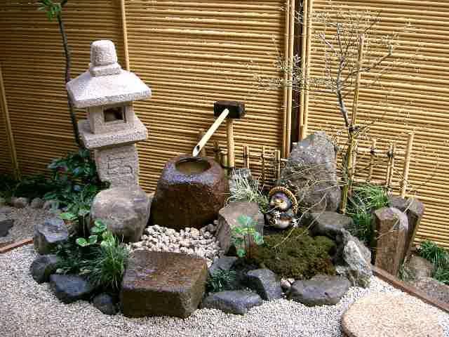 Japanese Garden Ideas garden makeover after shot of tsukubai garden Small Space Japanese Garden