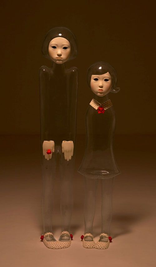 "Jin Young Yu ""Invisible people"" - pretty cool but they also make me a bit uneasy somehow."