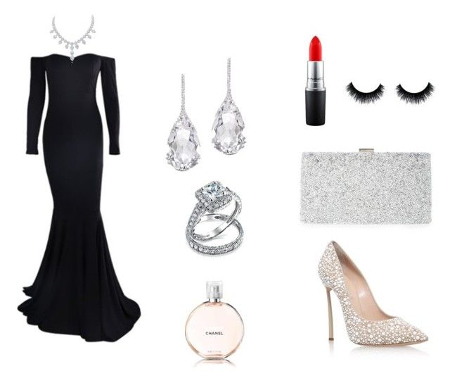 """""""Hollywood glamour"""" by vildana-dezic ❤ liked on Polyvore featuring Casadei, Plukka, Bling Jewelry, Sondra Roberts, MAC Cosmetics and Chanel"""