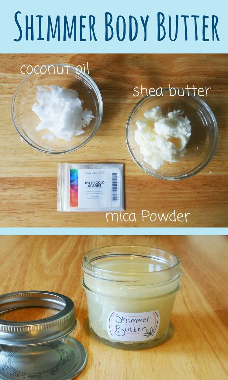 Messy Ever After: DIY Shimmer Body Butter, coconut oil and shea butter, homemade lotion. Get your sparkle on!