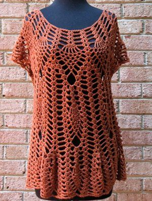 Who Lives in a Pineapple? - Inside Interweave Crochet - Crochet Me: Crochet Pineapple, Tunics