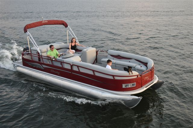 New 2012 Bentley Pontoon Boats 203 Cruise Pontoon Dark Red Color