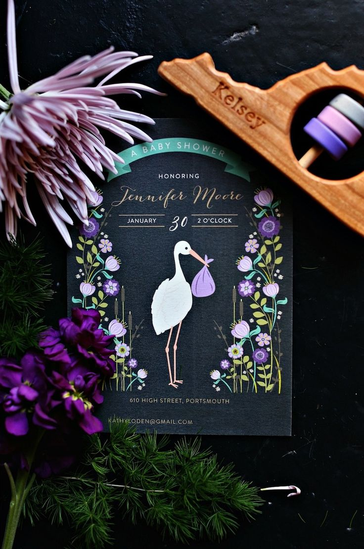 Celebrate the arrival of your little bundle of joy with an unique baby shower invitation design from Minted.  Image courtesy of Lindsay Collette.
