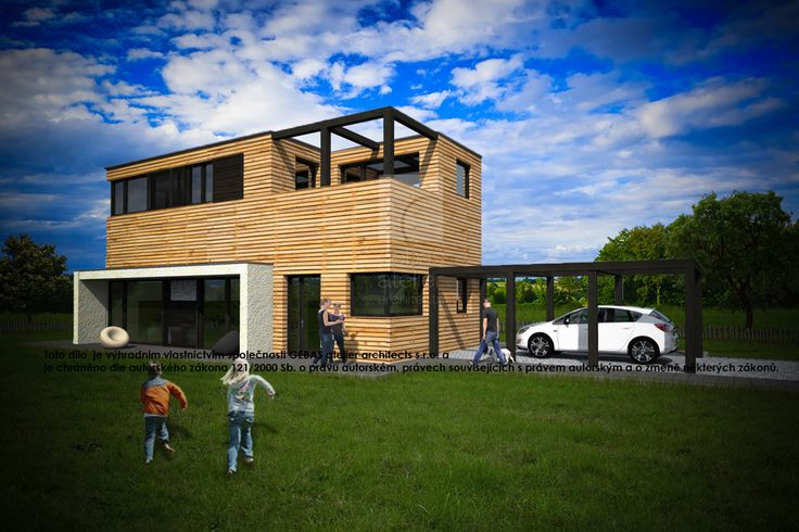The standard design of two-storey house for family size housing unit 4 +1 with a garage.
