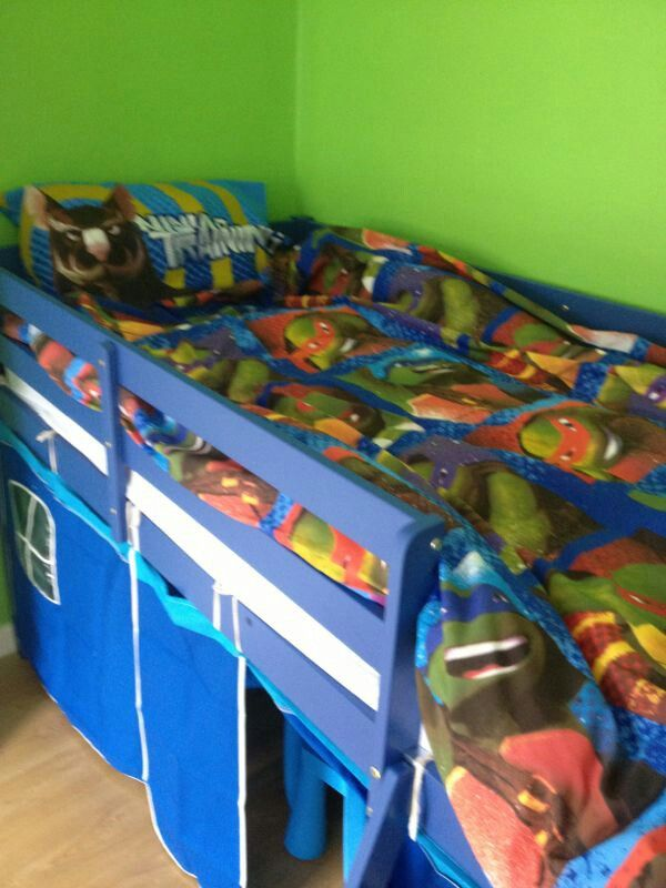 Ninja turtles little boys bedding and tent bed. - 50 Best Images About  Kenzos Bedroom - Ninja Turtle Bunk Bed Rickevans Homes