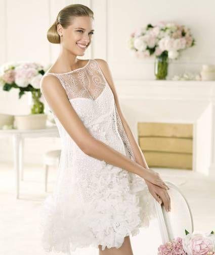 vestidos de novia cortos para una boda civil [Fotos]