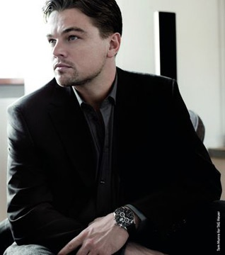 Leonardo Dicaprio wearing his TAG Heuer Watch