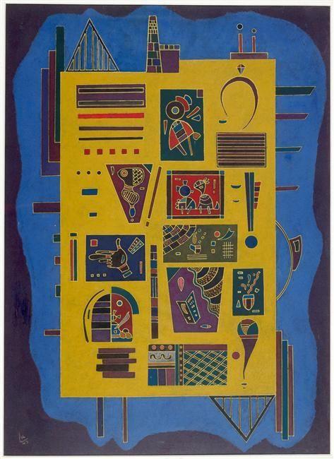 'Conglomérat', 1943 de Wassily Kandinsky (1866-1944, Russia)