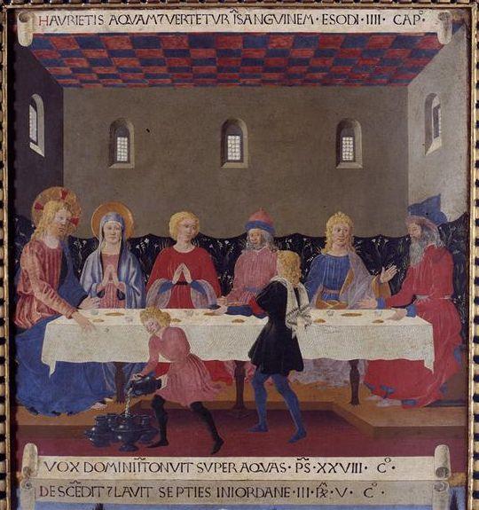 BEATO ANGELICO - Nozze di Cana, scena da Armadio degli Argenti - 1451-1453 - tempera su tavola - Museo di San Marco, Firenze