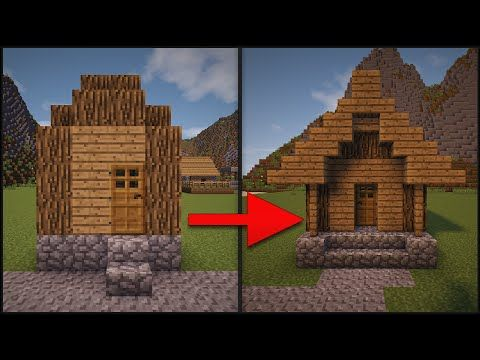 Minecraft: How To Remodel A Village - Part 1 (Hut) - YouTube