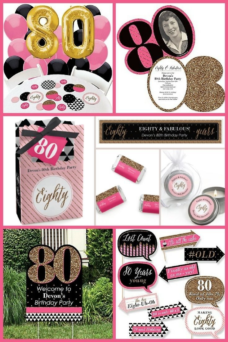 80th Birthday Party Ideas 80th Birthday Party 80th Birthday