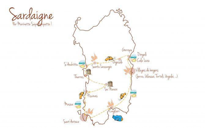 Sur les routes de Sardaigne ! | Marinette Saperlipopette Souvenir : #Itinéraire pour une semaine en #Sardaigne. A découvrir sur le blog Marinette Saperlipopette ! --> http://saperlipopette.marine-landre.fr/voyages/itineraire-sardaigne/