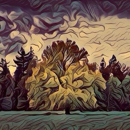 Lonely tree in the middle of a nearby storm (Fauvism style). Árbol solitario en medio de una cercana tormenta (estilo fauvismo). #arbol #arboles #tree #trees #forest #forests #art #arts #arte #artes #fauvism #fauvismo #bosque #bosques