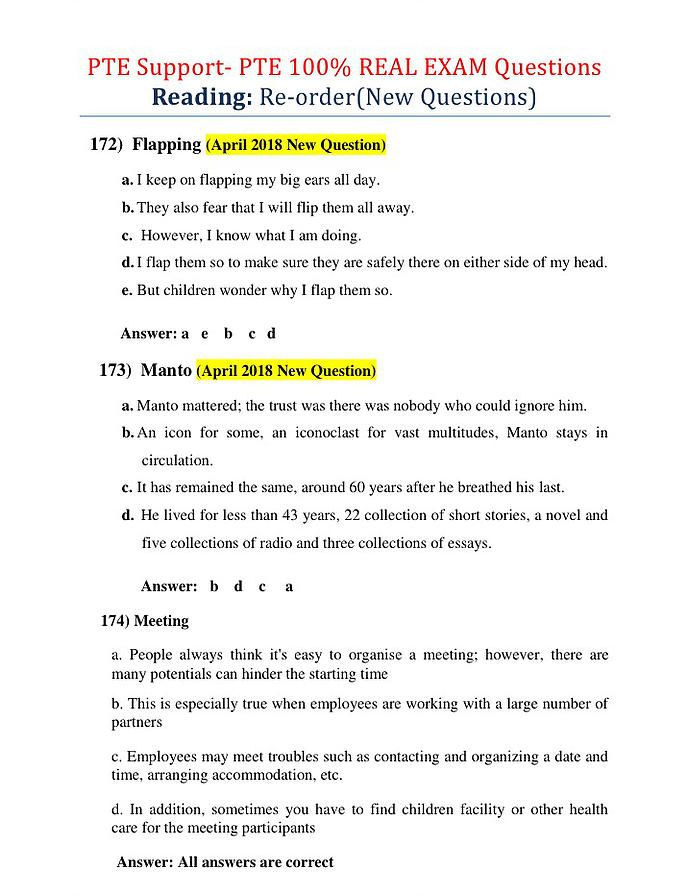 Pte 100 Real Exam Questions Bank This Or That Questions Exam Papers Exam