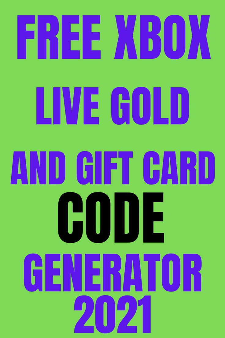 Free xbox live gold and gift card code generator 2021 in