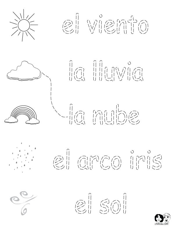 free spanish worksheets for kids spring printout. Black Bedroom Furniture Sets. Home Design Ideas