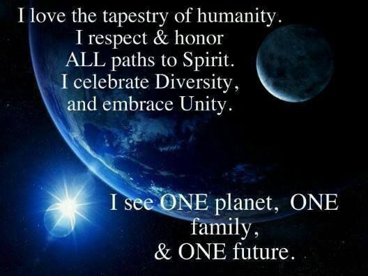 Unity in diversity; One planet