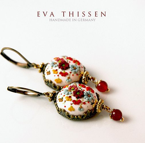 Snow White. Beautiful handmade polymer clay earrings. Made to order. | Flickr - Photo Sharing!