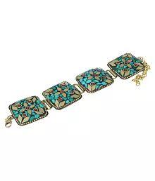 Waama Jewels Multicolour Brass Tibetan Bracelet