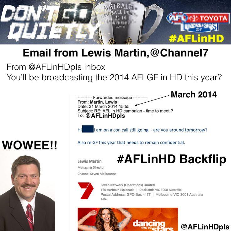 No #AFLGF in HD for 2014.  A massive back flip by Channel 7.  #AFL #AFLinHD #Brownlow #7sport #FoxFooty