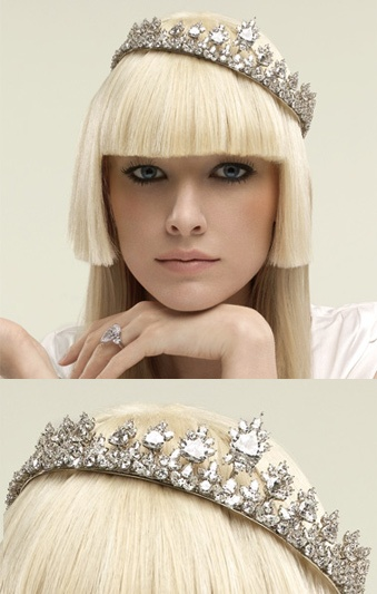 Harry Winston Diamond and Platinum Tiara