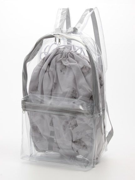 Transparent backpack-- had one while visiting D.C. security at all the sites really liked it.