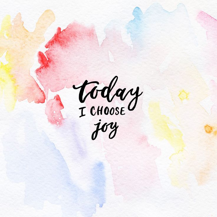 Free iPad Wallpaper // Today I choose joy #wallpaper #ipadwallpaper #freedownloads #watercolor #canvas #art
