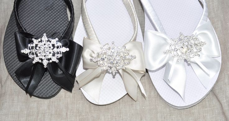 A personal favourite from my Etsy shop https://www.etsy.com/uk/listing/556133529/bride-bridesmaid-flip-flop