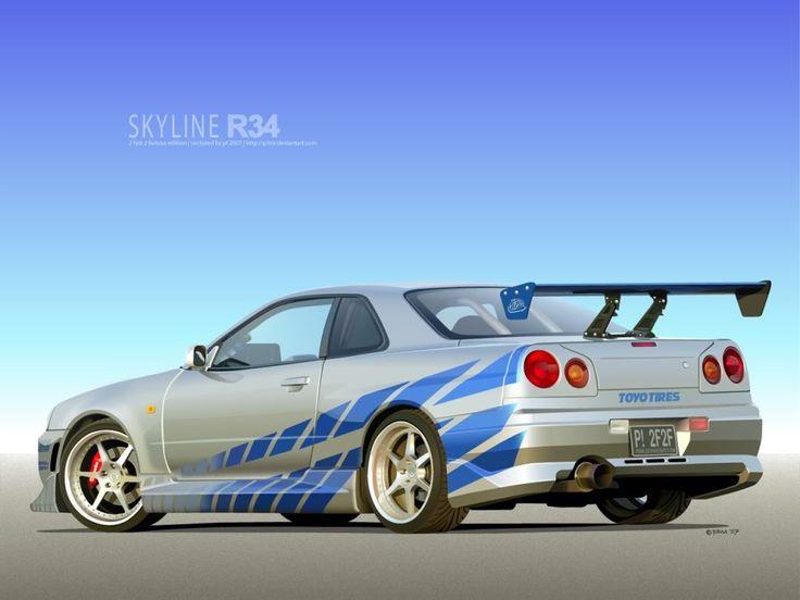 Nissan Skyline Gtr R34 Movie Prop Pinterest Cars