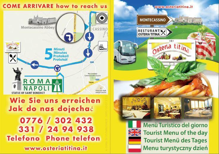 Flyer pieghevole in multilingua - Osteria Titina