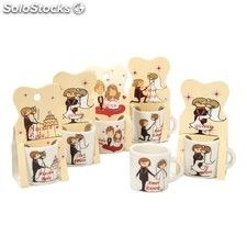 Regalos Boda para Invitados: coquetas mini tazas fabricadas en cerámica