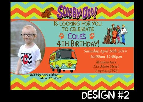 50 best scooby doo party images on pinterest   birthday party, Birthday invitations