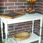 Ana White   Build a Stair Baluster Outdoor Console Table   Free and Easy DIY Project and Furniture Plans