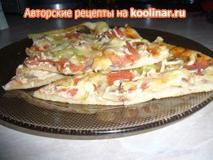 Фото к рецепту: Пицца вегетарианская(вариант)