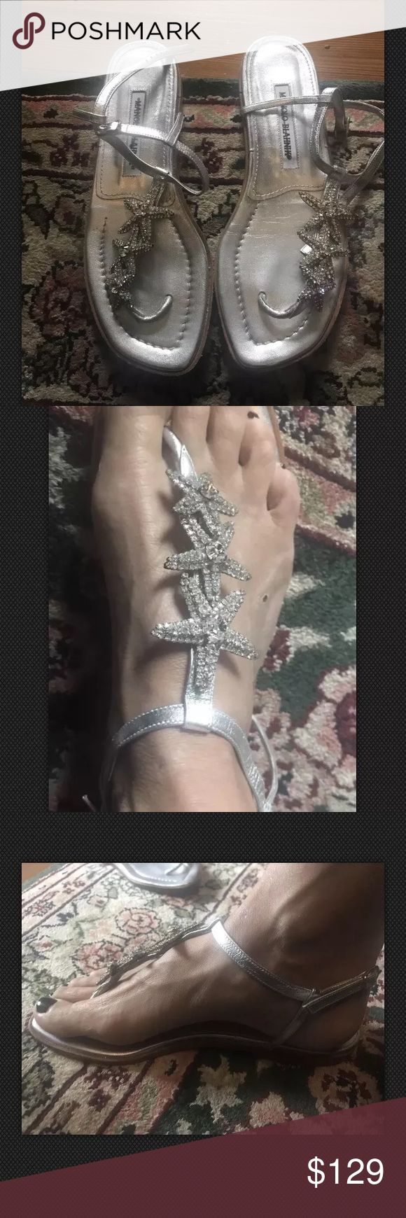 Manolo Blahnik Rhinestone Starfish Sandals Manolo Blahnik Rhinestone starfish sandals are great to wear with any outfit! They add some sparkle to any day, any time! Classic Manolo and fun! In great condition, only worn once.... Manolo Blahnik Shoes Sandals
