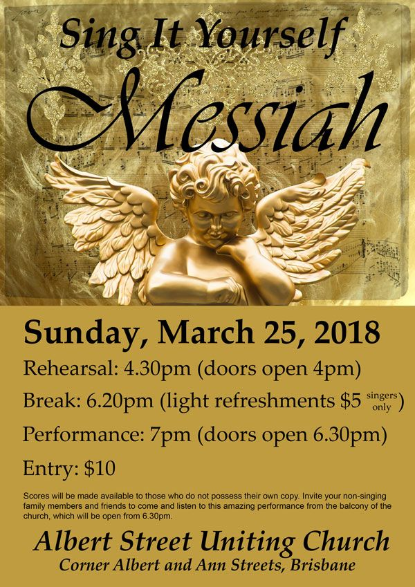 Come and Join in the fun! Sing it yourself Messiah is on again and we are joined by Jason Barry-Smith as the conductor. A great evening - singing or watching!