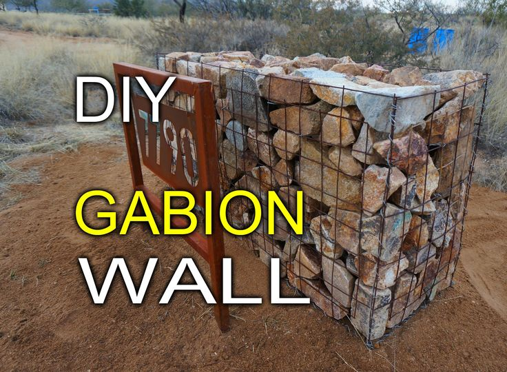 For a retaining wall along the South side of the property.Here is a quick tutorial of how I build my own gabion walls from standard concrete remesh and galvanized wire. They are simple to build and can be filled wit...