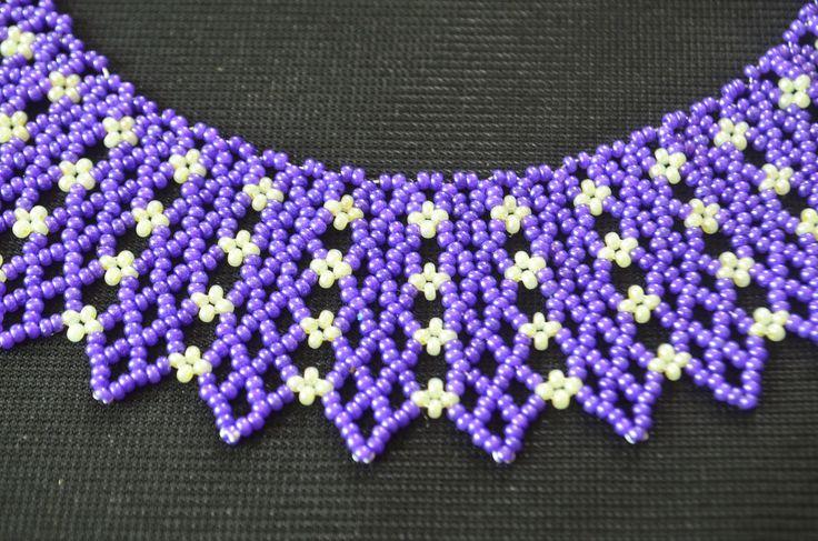 """Колье из бисера """"Индиго"""".  Мастер класс / Necklaces of beads. Beading"""