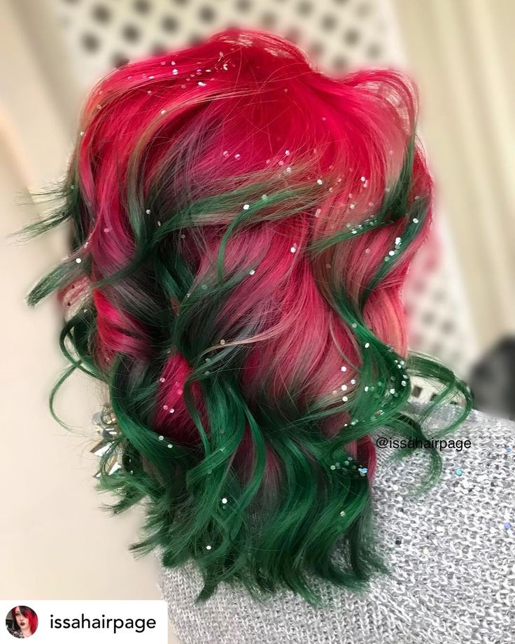 green food coloring for red hair