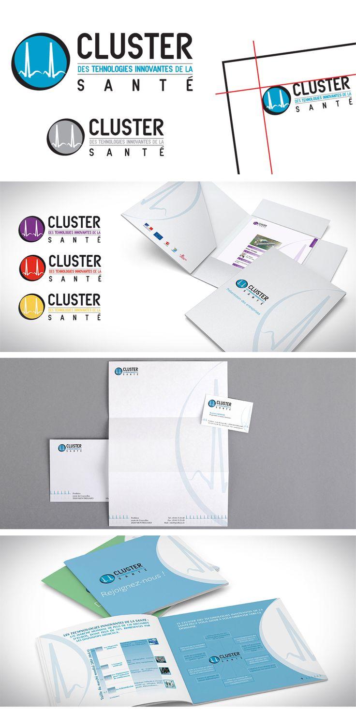 Identité visuelle & charte graphique - Papier entête, carte de visite, porte-document, fiches d'entreprises, brochures de communication interne et externe.