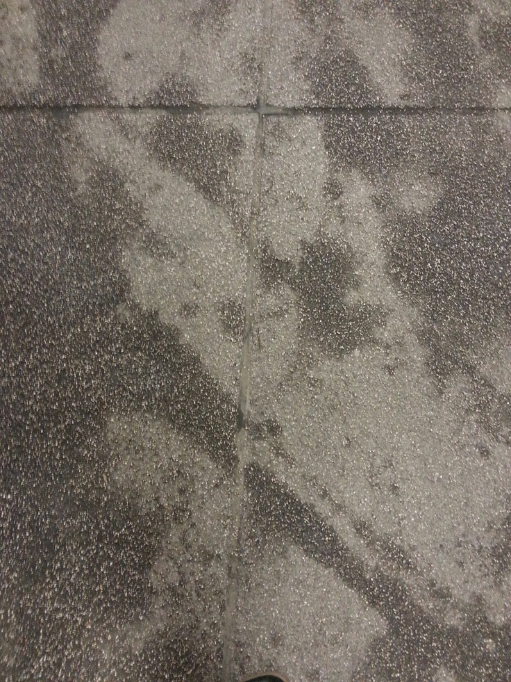 concrete floor of local garage.
