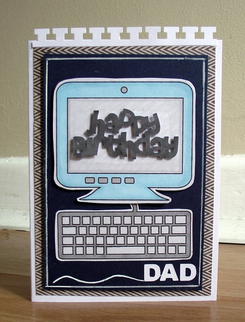 How To Make Birthday Cards On The Computer Part - 21: Thought Of My Father-in-law When I Made The Computer And Keyboard Dies. Card  Created By Silversparkles On Flikr.